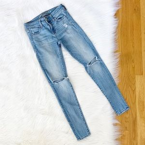 American Eagle | Busted Knee Distressed Jeggings